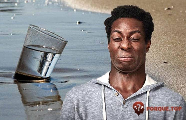 No podemos beber agua de mar